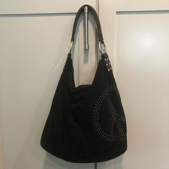 Lucky Brand Bags   Boho Slouchy Hobo Bag Peace Sign   Poshmark 70e5e2bdb7